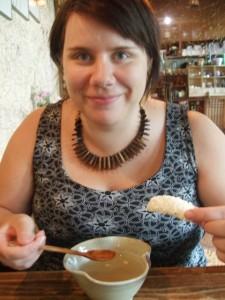 Insadong, Inkku riisilimakahvilassa